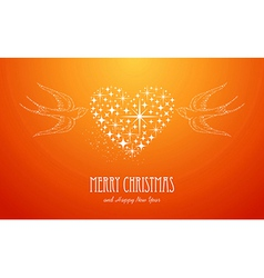 Merry Christmas and Happy New Year stars greeting vector image vector image