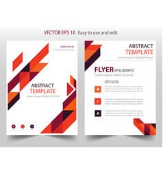 red orange abstract triangle annual report vector image vector image