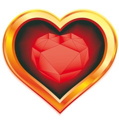 ruby heart vector image vector image