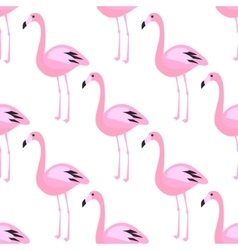 Flamingo seamless pattern Pink exotic bird vector image vector image