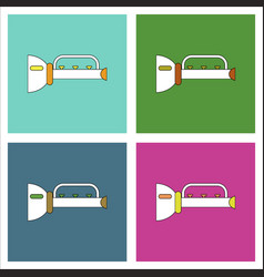 flat icon design collection children trumpet vector image vector image