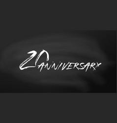 20 anniversary logo concept 20th years birthday vector