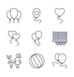 9 balloon icons vector