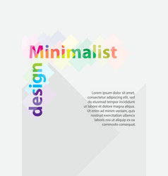 a4 minimal color design postcard flyer poster vector image