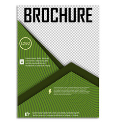 Abstract a4 brochure cover design templates for vector