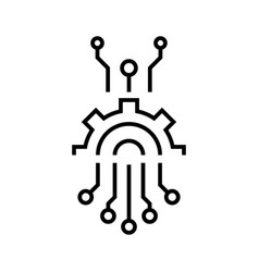 abstract circuit line icon abstract circuit vector image