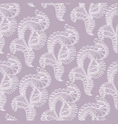 Abstract pattern with lace stylized objects vector
