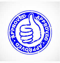 approved thumbs up stamp vector image