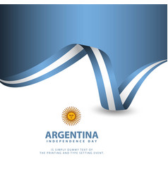 Argentina independence day template design vector
