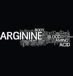 Arginine text background word cloud concept vector
