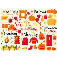 Autumn todo list vector