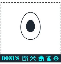 Avocado icon flat vector image