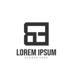 be letter logo design initial letter logo template vector image