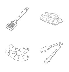 Blade kitchen firewood sausages and other for vector