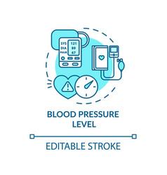 Blood pressure level concept icon vector