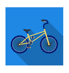 bmx cyclist bicyclist athletes sportsman bike for vector image