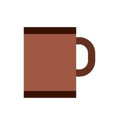 Brown tea or coffee mug icon flat style vector image