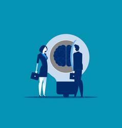 Business person open idea to success concept vector