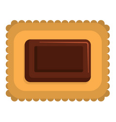Butter biscuit icon flat style vector