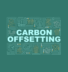 Carbon offset word concepts banner vector