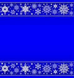 christmas snowflakes borders vector image