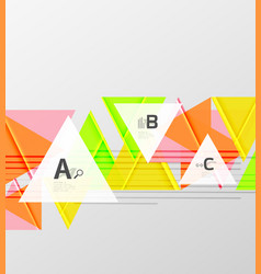 Colorful abstract shapes background vector
