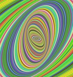 Colorful ellipse fractal design background vector image