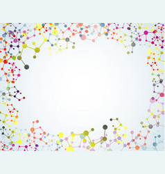 Colourful of molecular on isolated background vector