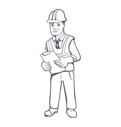 Construction manager vector