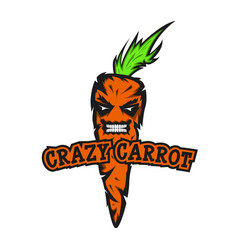 Crazy carrot is a youth emblem for the design of t vector