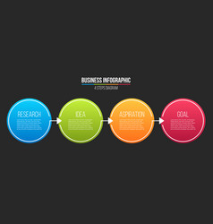 creative of infographic line vector image