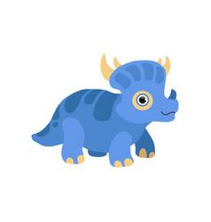 cute styracosaurus dinosaur blue baby dino vector image