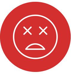 Dead emoji icon vector
