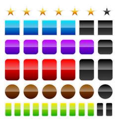 Different colorful progress indicators loading vector