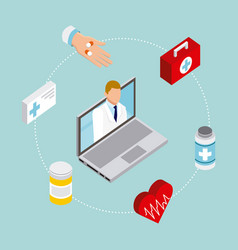 digital health concept vector image