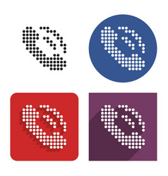 dotted icon handset in four variants vector image