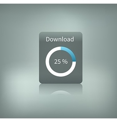 Download button with loading vector