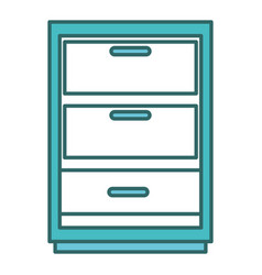 Drawer house isolated icon vector