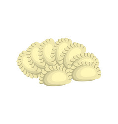 dumplings cartoon design isolated on white vector image