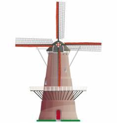 Dutch windmill vector