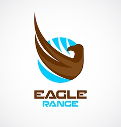 Eagle wing and head logo template vector image