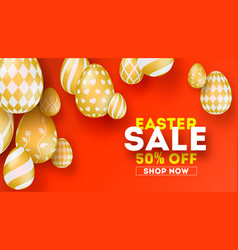 easter sale special holiday offer set hand vector image