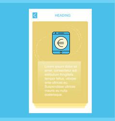 euro mobile vertical banner design design vector image