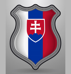 flag of slovakia badge and icon vector image