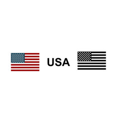 flag usa in red blue and black color vector image