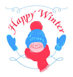 happy winter vector image