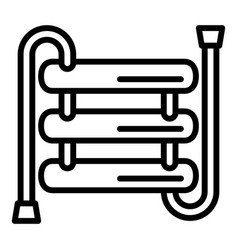 Heater pipe icon outline style vector
