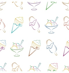 Ice cream pictogram seamless vector