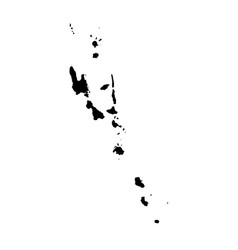map vanuatu isolated black vector image