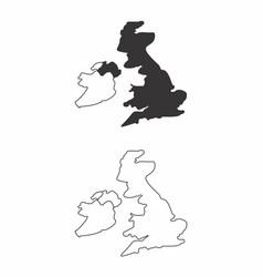 Maps of united kingdom vector